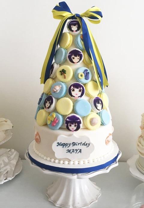 《ごちうさ》公式が「マヤ」ちゃんのお誕生日を今年はマカロンタワーでお祝いしているぞ!!!