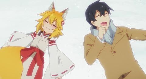 《世話やきキツネの仙狐さん》10話感想・画像 雪ではしゃぐ仙狐さん超かわいい