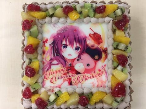 《ごちうさ》公式もリゼちゃんのお誕生日をKoi先生のイラストのケーキでお祝いしているぞ!