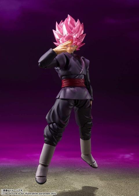 《ドラゴンボール超》S.H.フィギュアーツ「ゴクウブラック-スーパーサイヤ人ロゼ-」予約開始!ピンクの気を纏った姿をイメージした彩色で立体化