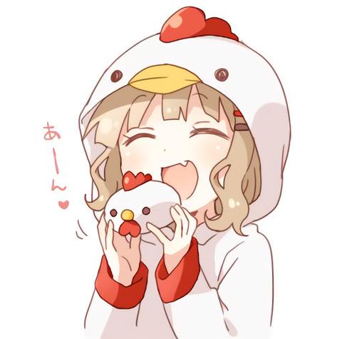 《ゆるゆり》なもり先生が描いたからあげクンの中華まんを食べようとする櫻子が激かわすぎる