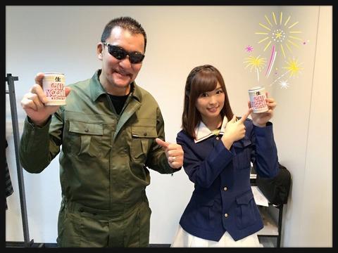 《ガルパン》声優・渕上舞さんと蝶野正洋さんのツーショット良いな