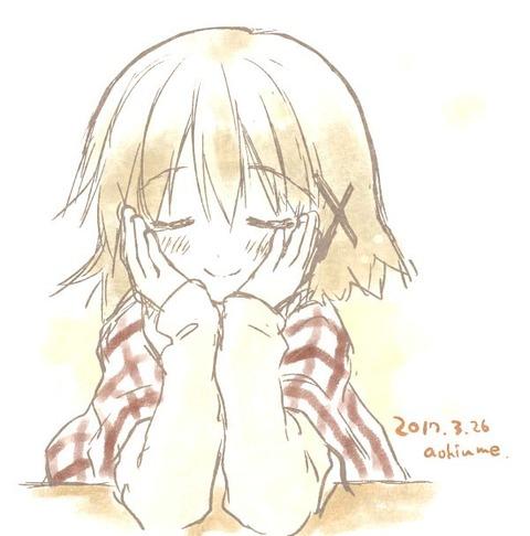 蒼樹うめ先生が描いた「ひだまりスケッチ×ハニカム再放送」最終話感謝イラストのゆのっちが可愛すぎる