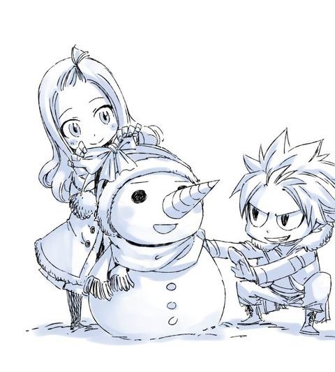 真島ヒロ先生が描いた雪だるまを作る「ナツとミラ」が超可愛い!!!