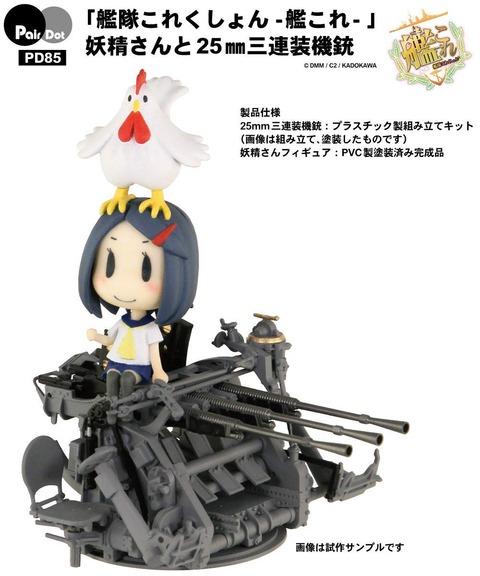 《艦隊これくしょん》ぺあどっと「妖精さんと25mm三連装機銃」予約開始!