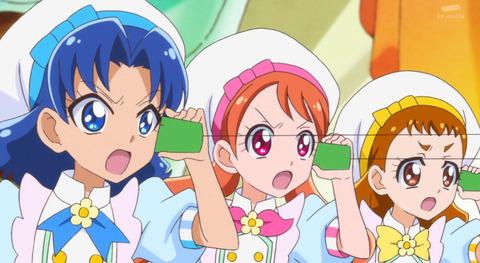 《キラキラ☆プリキュアアラモード》3人ひとまとめみたいになってる時の中学生組って物凄く可愛いよな