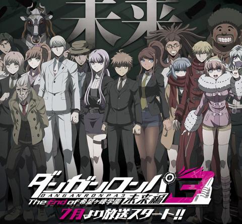 アニメ《ダンガンロンパ3 未来編》2016年7月放送決定&「絶望編」の製作も決定