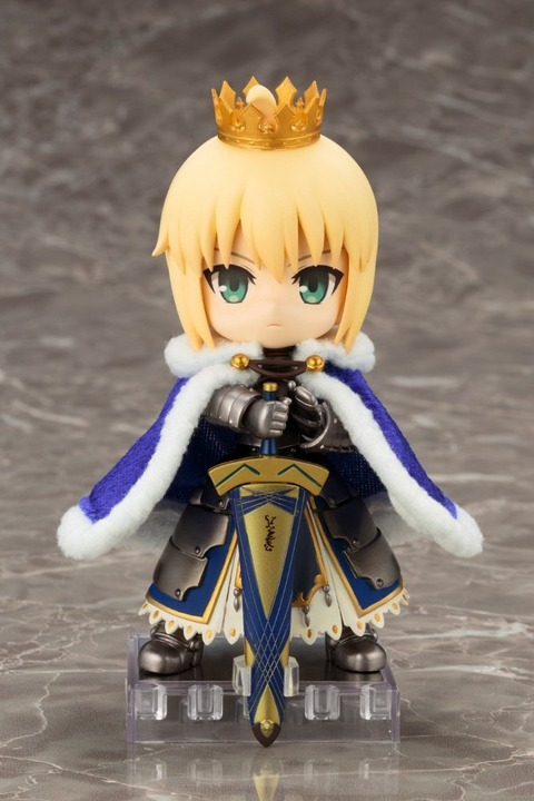 《Fate/GO》キューポッシュ「セイバー / アルトリア・ペンドラゴン」予約開始!マントと王冠は取り外すことも可能