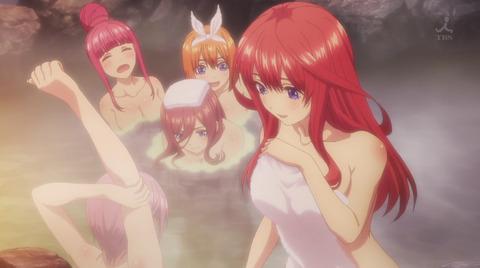 《五等分の花嫁》9話感想・画像 風呂シーン最高ですね