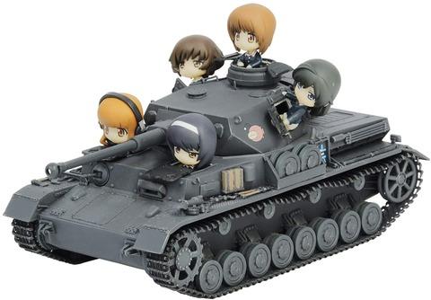 《ガルパン》プラッツ「IV号戦車F2型(D型改) あんこうチーム プチあんこうチーム付き特別版」予約開始!IV号戦車にピットロード社製フィギュアが付いたスペシャルキット