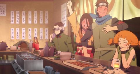 《BORUTO-ボルト-》50話感想・画像 木の葉丸の同期集結!酔ったハナビちゃんかわいいな