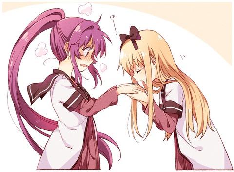 《ゆるゆり》なもり先生が描いた「綾乃ちゃんの手を温める京子ちゃんが」実に良い