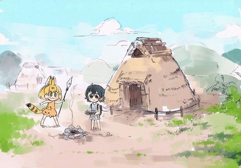 《けものフレンズ》旧石器時代に生きるサーバルちゃんとかばんちゃん