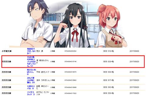 《俺ガイル》最新12巻が9月20日に発売されるっぽいぞ!!!