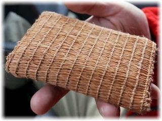 カラムシという草を編んだ布