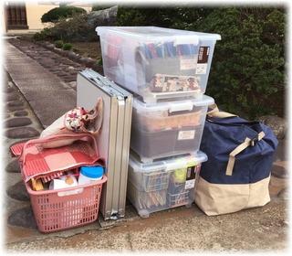 出発前に荷物をパチリ