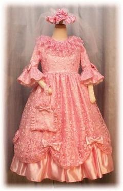 シロ七歳の七五三お色直しドレス