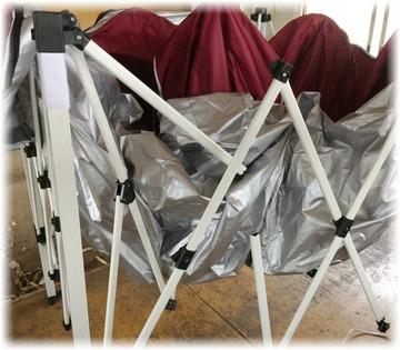 タープテント2.5mのパーツを交換修理
