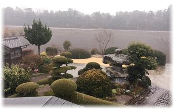 午前中のウチに一度は止んだ雪☃️