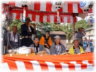 高1の夏祭りは囃子の一員として祭りに参加