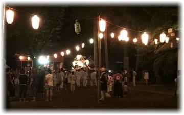 ひと回りして神社に戻って来た神輿