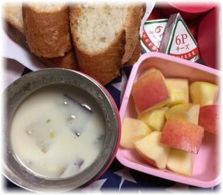 サツマイモのクリームスープ