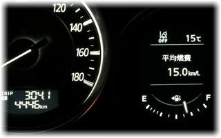 平均燃費/15km!