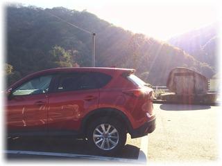 ダム見学用の駐車場があった