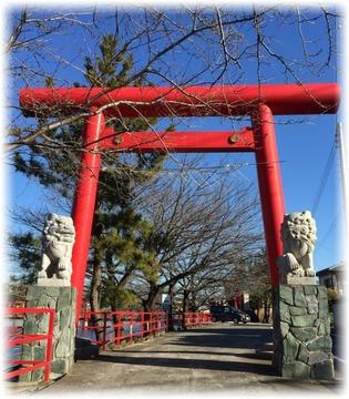 白龍神社の一の鳥居&狛犬