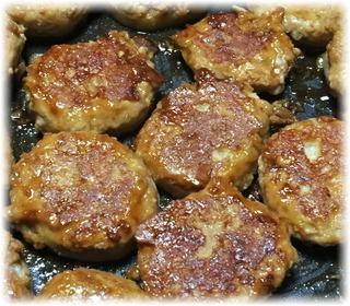 チーズ入り肉詰めレンコン焼き