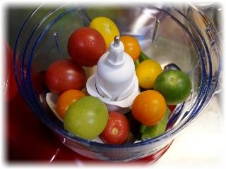 色とりどりのプチトマトなど