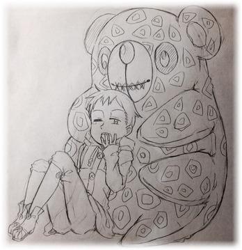 鉛筆描きの下絵