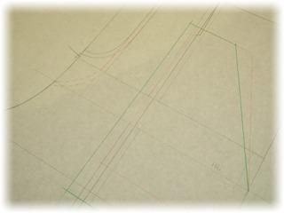 パターンに展開線を書き入れて