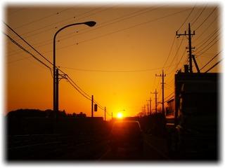 途中で観たキレイな夕空