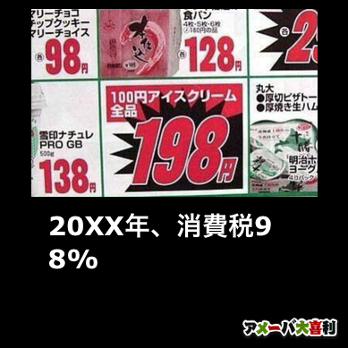 20XX年、消費税98%
