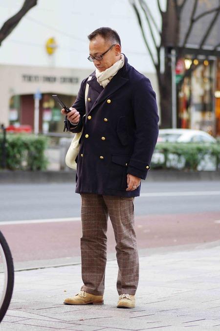 40代の秋冬ファッション着こなし、コーディネート画像、スナップ写真(メンズ編)