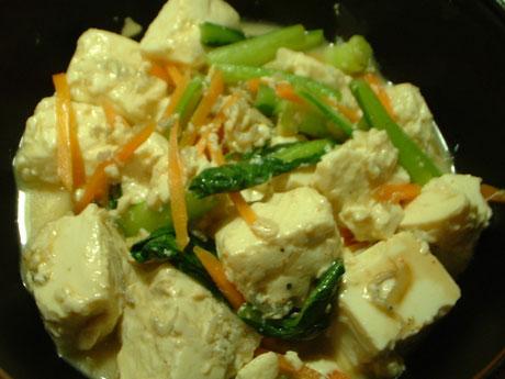 豆腐炒め雪解け風