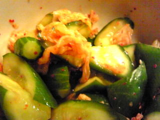 胡瓜とキムチ