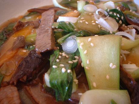 牛と青梗菜の中華炒め