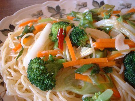 残り物野菜ネギロンチーネ