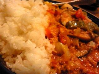挽肉と夏野菜のカレー