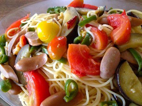夏野菜ふたたびパスタ