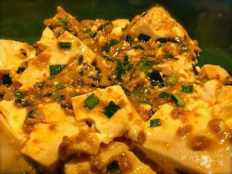 ニラ入り麻婆豆腐
