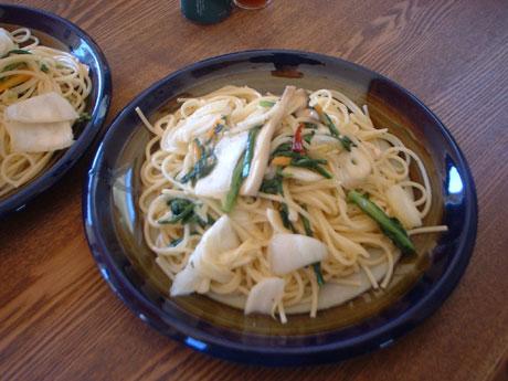 エリンギと春菊と白菜