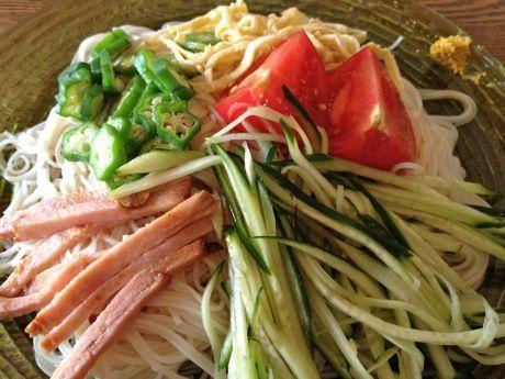 冷やし中華風ぶっかけ素麺