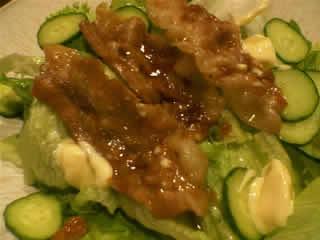 豚バラ焼肉サラダ
