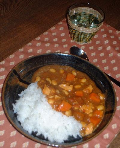 鶏と大豆のカレー