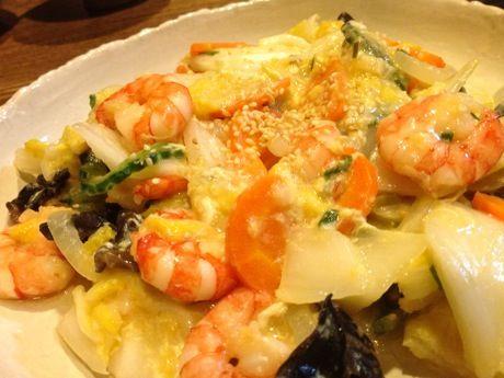 海老と白菜の中華炒め
