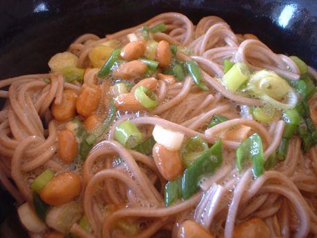 納豆釜玉蕎麦