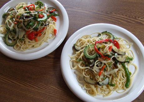 夏野菜処分スパゲティ